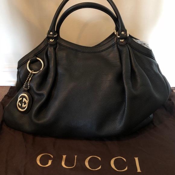 6e70f537a Gucci Bags | Large Leather Sukey Handbag | Poshmark